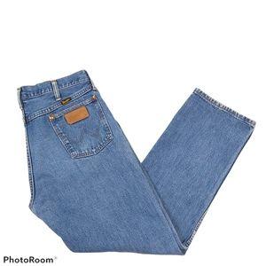 Vintage Wrangler Cotton Light Wash Straight Jeans